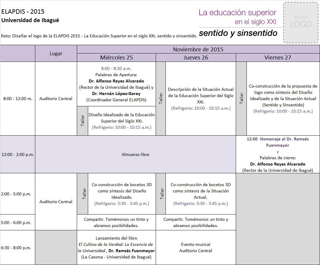 Programa ELAPDIS 2015